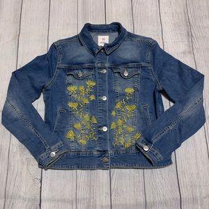 Lularoe LLR Harvey Yellow Floral Jean Jacket
